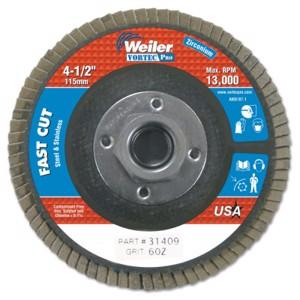 "4-1/2"" x 5/5-11"" A, Abrasive Flap Disc, Flat, Phenolic Backing, 6 oz"
