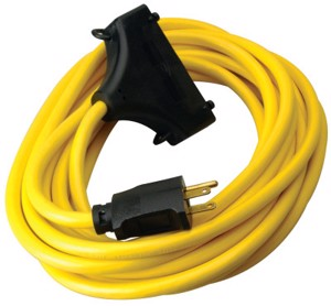 Generator Extension Cords, 25 ft, 3 Outlets