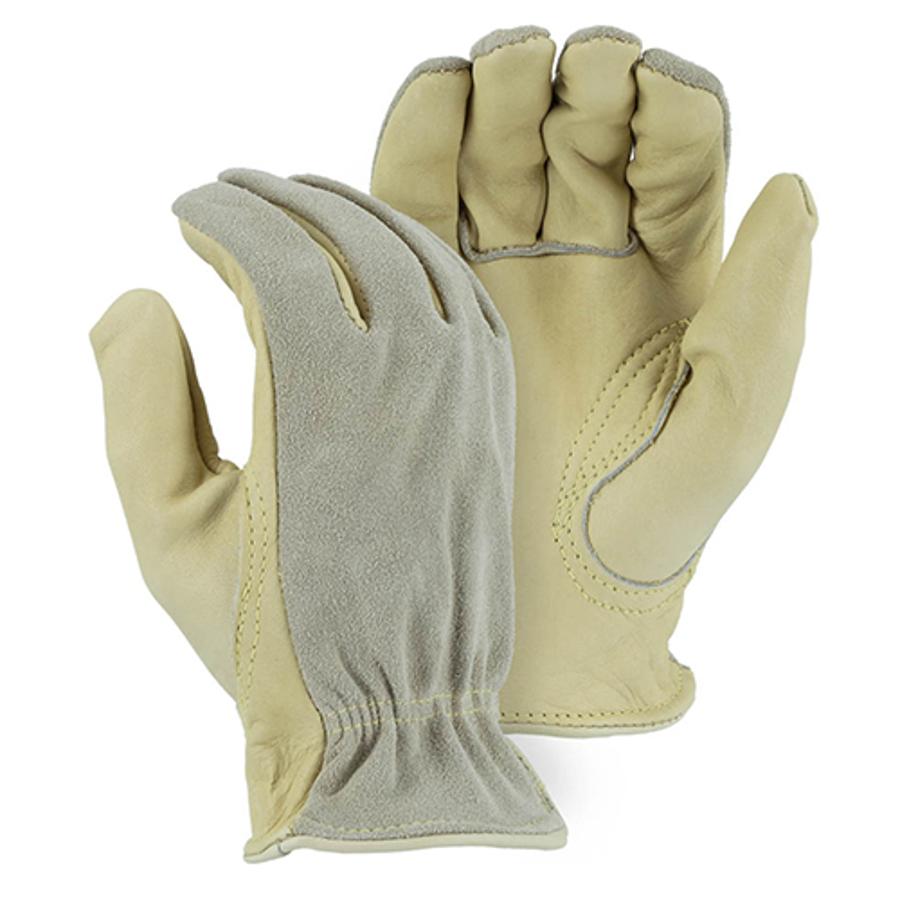 1532 B-Grade Cowhide Kevlar Sewn Drivers Glove with Split Back