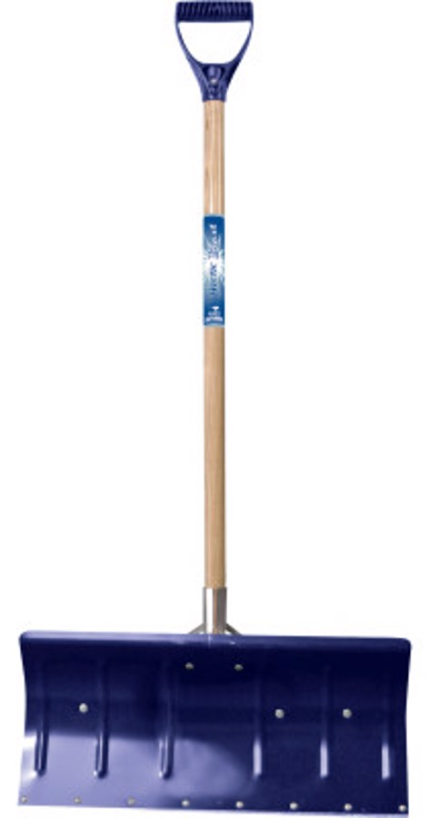 Arctic Blast Snow Pusher, 11 in X 24 in Blade, Wood Poly D-Grip Handle