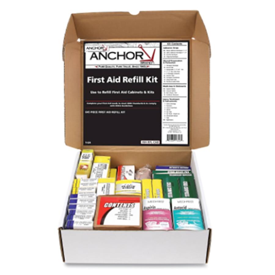 640 Piece First Aid Refill, 101-3SH-RFL-CAB, Cardboard Case