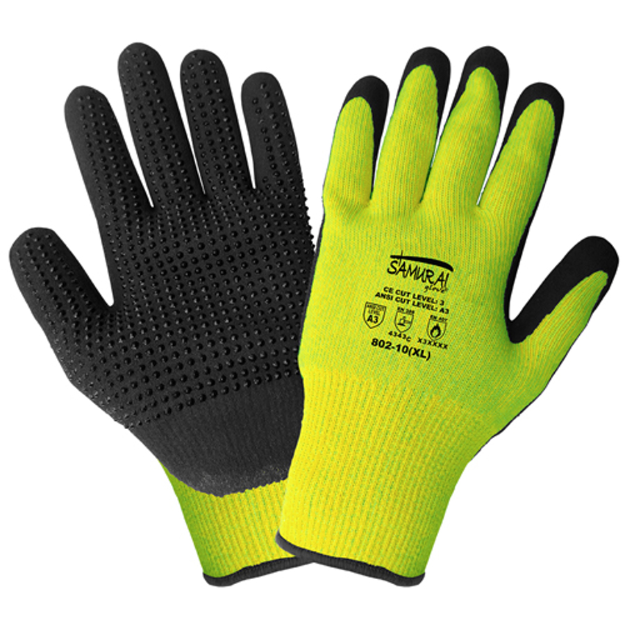 802, Samurai, Hi-Vis Cut and Heat Resistant Gloves