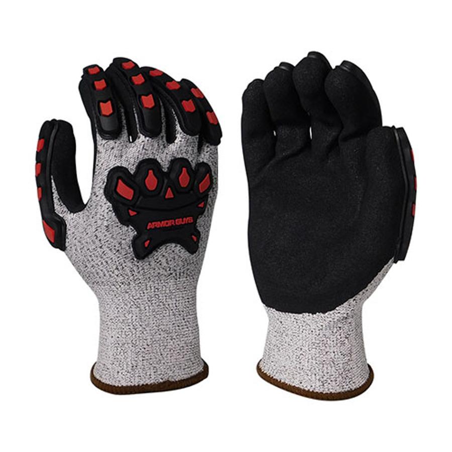 Armor Guys, Cut Level A3, Black Micro Foam Palm Coating, TPV, 13 Ga, 02-030