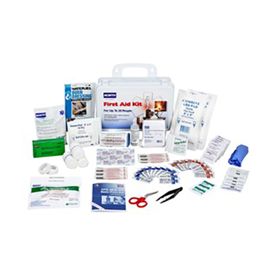 25 Person White Plastic Portable First Aid Kit