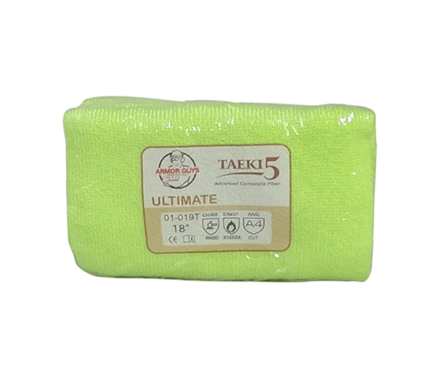 18in 100% Taeki5 Hi-Vis Green Sleeve With Thumb Hole, ANSI A4, Vend Packed