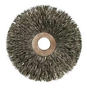 """Copper Center Wire Wheel, 3"""" D x 5/8"""" W Stainless Steel"""