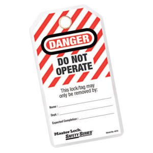 """Safety Series """"Do Not Operate"""" I.D. Tags, 3 1/8 in W x 5 3/4 in H"""