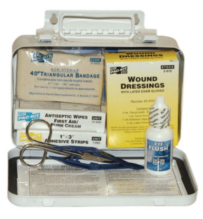 10 Person Vehicle First Aid Kits, Weatherproof Steel