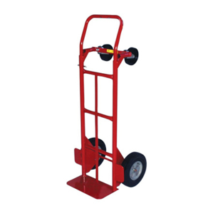 Convertible Hand Trucks, 600 lb Cap., 8 in x 14 in Base Plate, Flow Back Handle