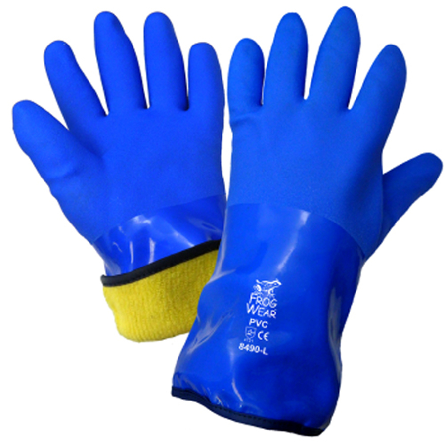 8490-10(XL)- FrogWear, Chemical Resistant Supported Neoprene, PVC and Nitrile Glove
