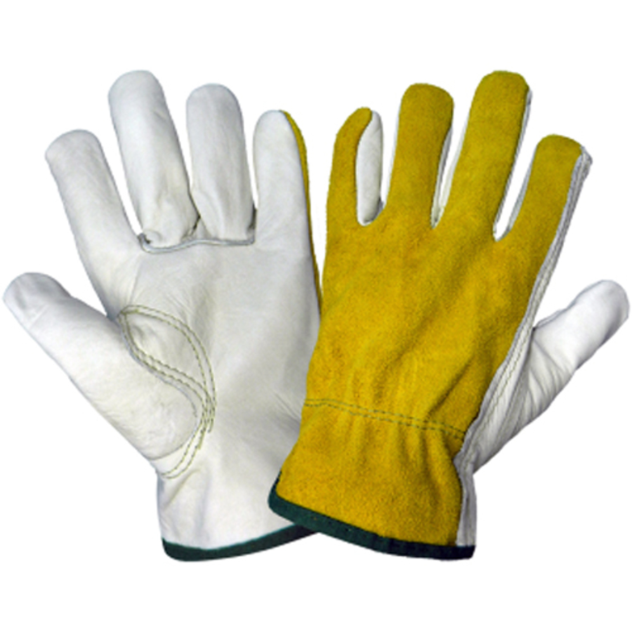 3200BS, Leather, Cow Grain split back Glove