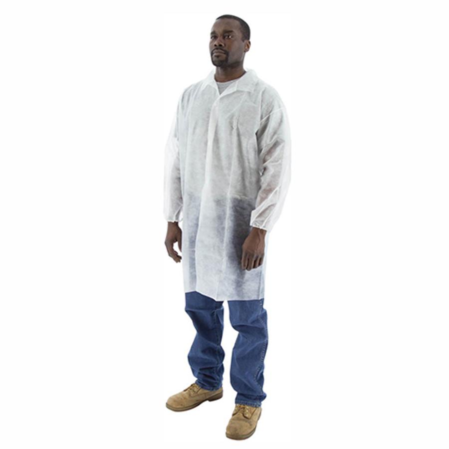74-402 PP Lab Coat with Elastic Wrist, Collar & 3 Snaps