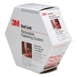 """Clear Dual Lock Reclosable Fasteners, 1"""" x 4.9yds"""