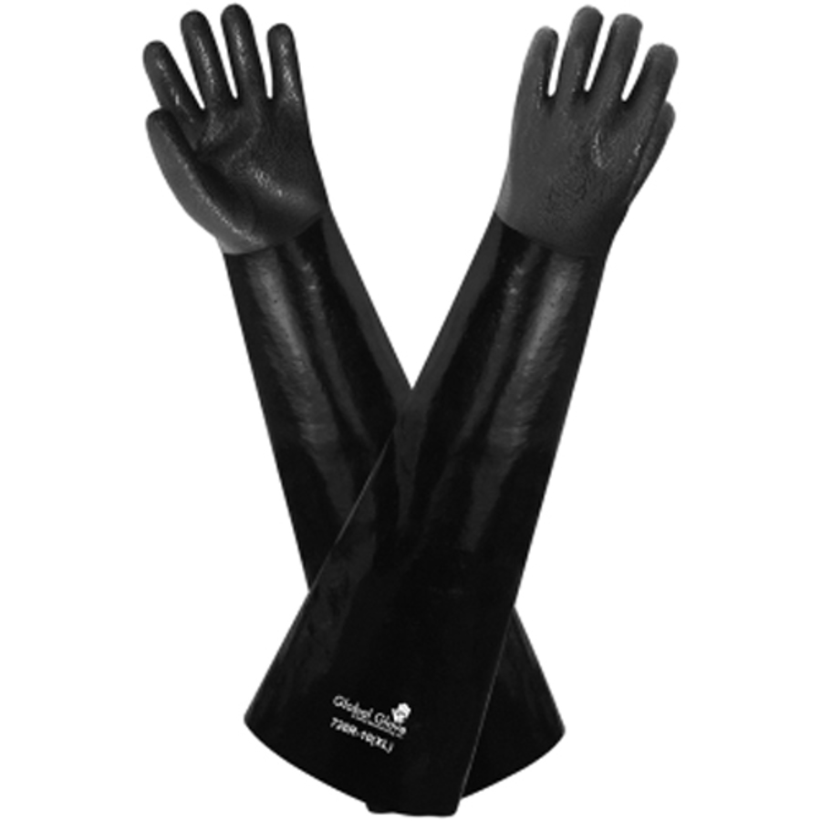 726R-10(XL)- Chemical Resistant Supported Neoprene, PVC and Nitrile Glove