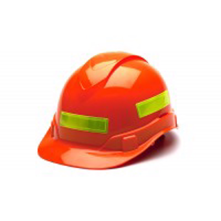 Adhesive reflective stripe for hard hats - Lime