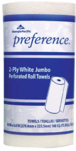 GEORGIA PACIFIC Preference Perforated Paper Towels, White, 85 Sheets/Roll