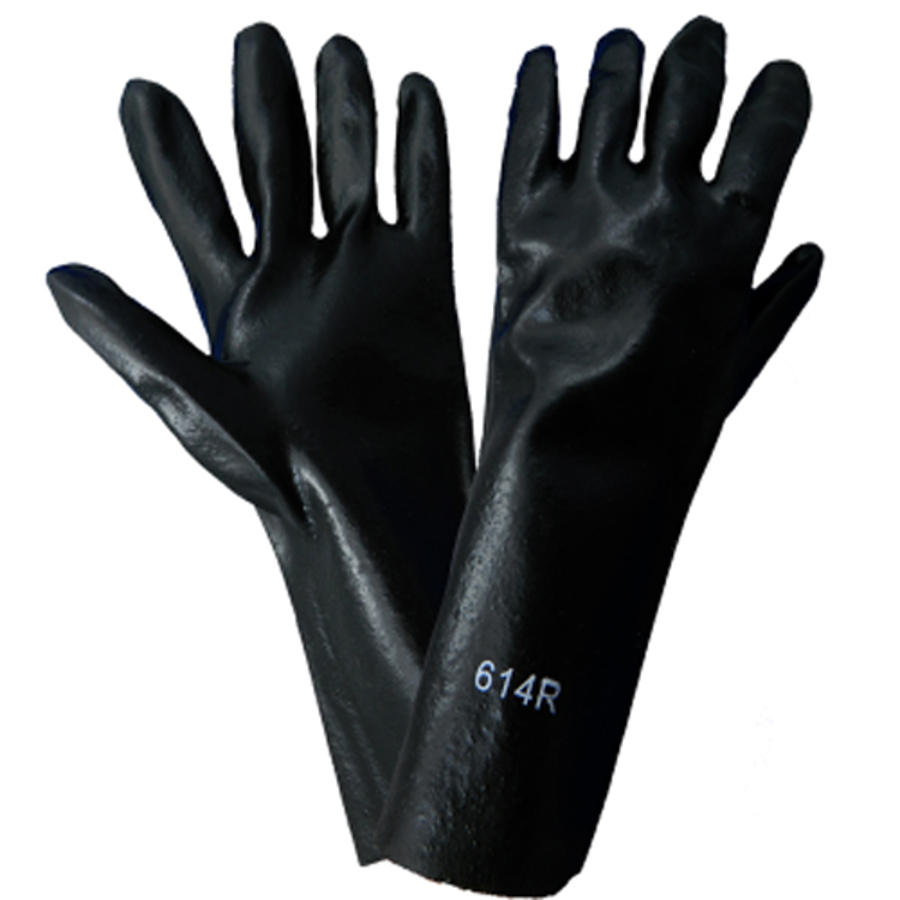 614R- Chemical Resistant Supported Neoprene, PVC and Nitrile Glove
