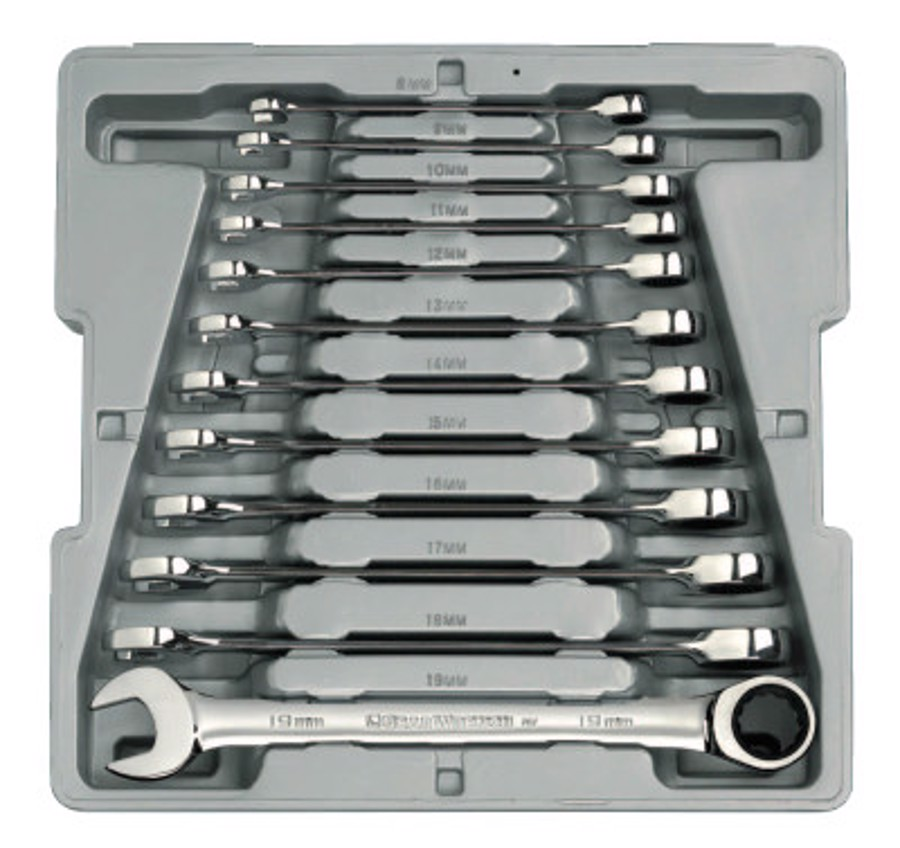 12 Piece Combination Ratcheting Wrench Sets, Metric