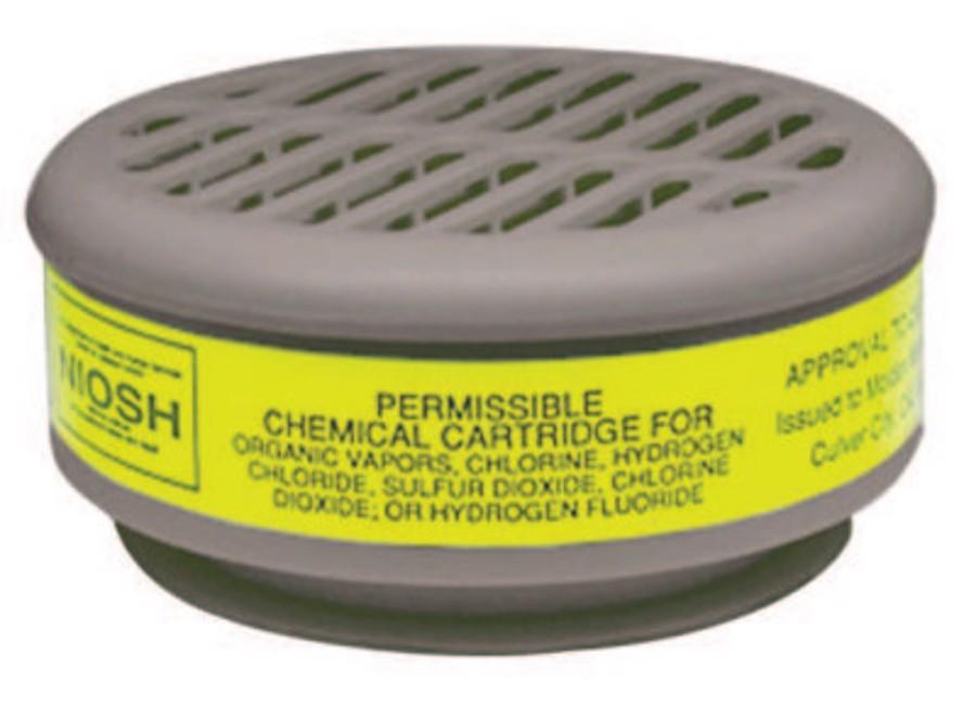 8000 Series Gas/Vapor Cartridges, Organic Vapors/Acid Gases