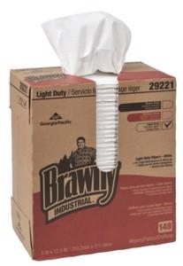 Brawny Industrial  Light-Duty Wipers, White
