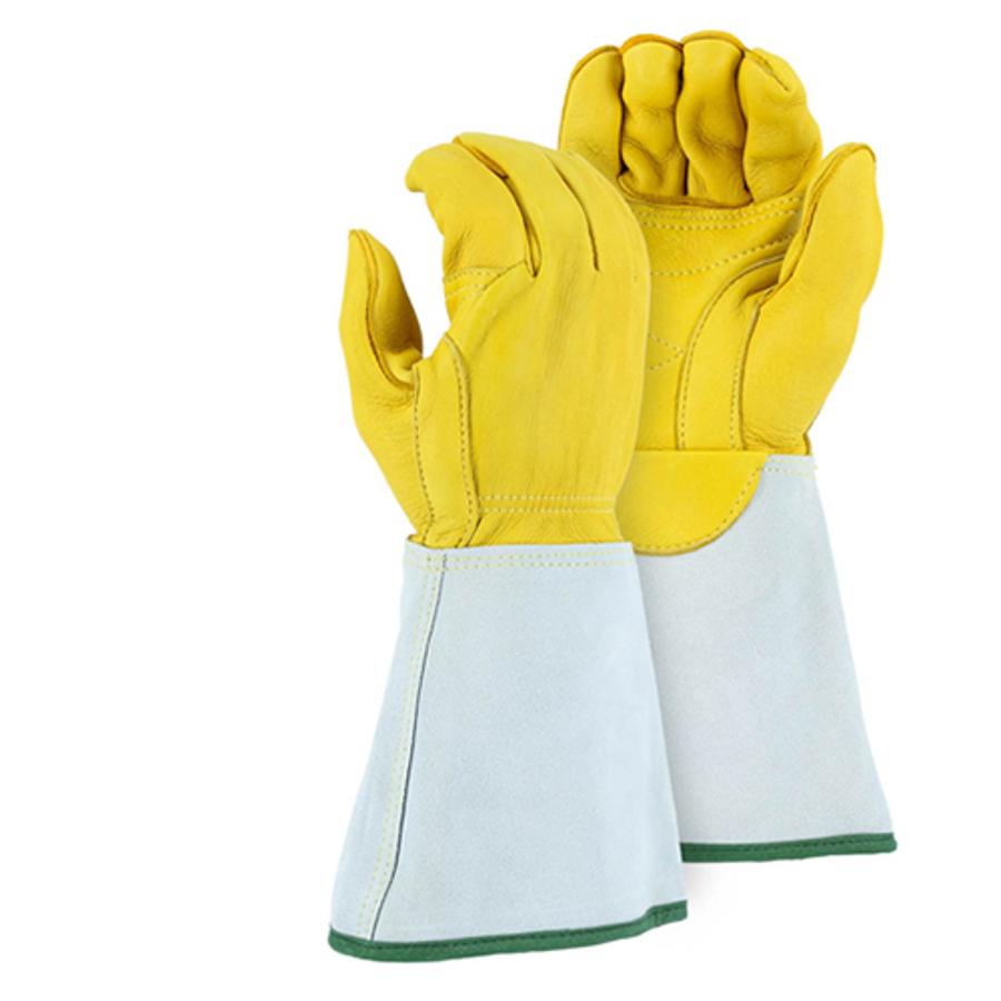 1516E Linemans Gauntlet Glove with Welted Fingertips