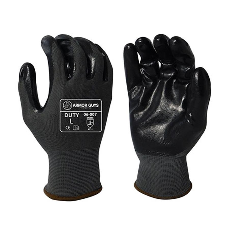 Armor Guys, Gray Smooth Nitrile Palm Coating, 13 Ga, 06-007