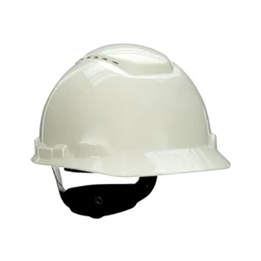 3M Hard Hat w/UVicator, Vented, 4-Point Ratchet Suspension