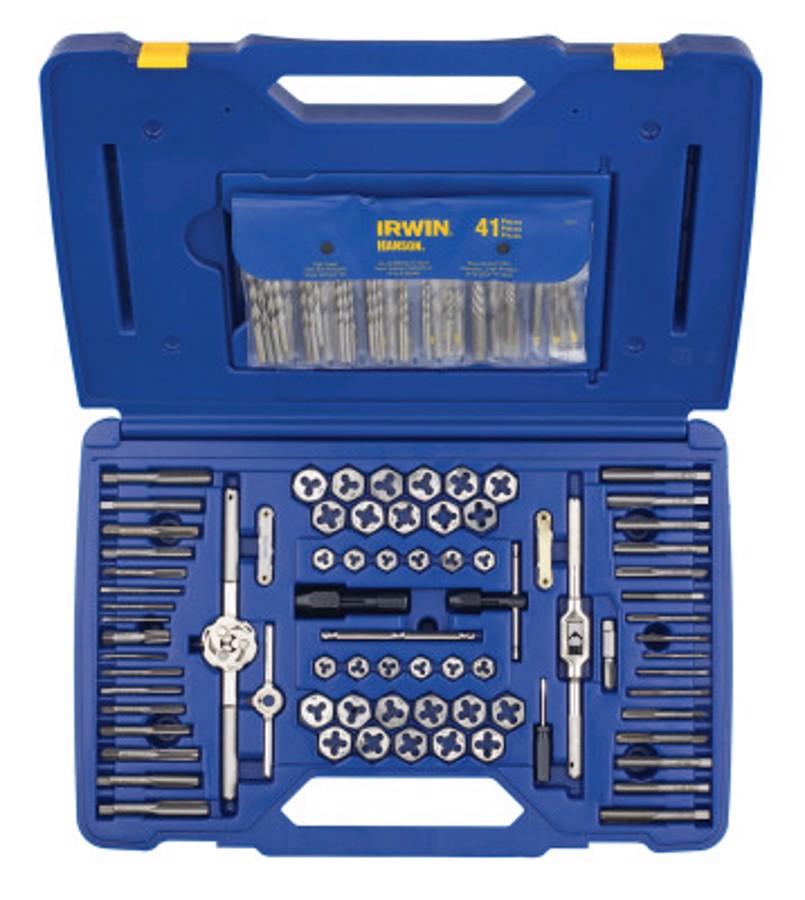 117 Piece Machine Screw/Fractional/Metric Tap & Hex Die and Drill Bit Deluxe Set