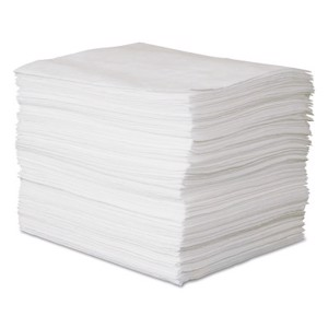 Oil-Only Heavy-Weight Absorbent Pads, Absorbs 35 gal, 15 in x 19 in