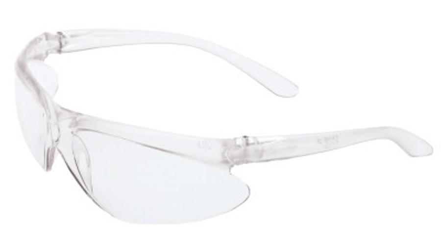 A400 Series Eyewear, Clear Lens, Polycarbonate, Hard Coat, Clear Frame