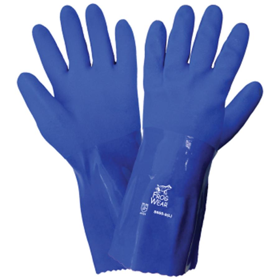 8660-9(L)- FrogWear Triple Dipped PVC Chemical Handling Gloves