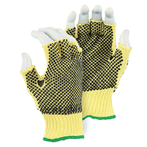 3110F Fingerless Cut Resistant Kevlar Glove with PVC Dots