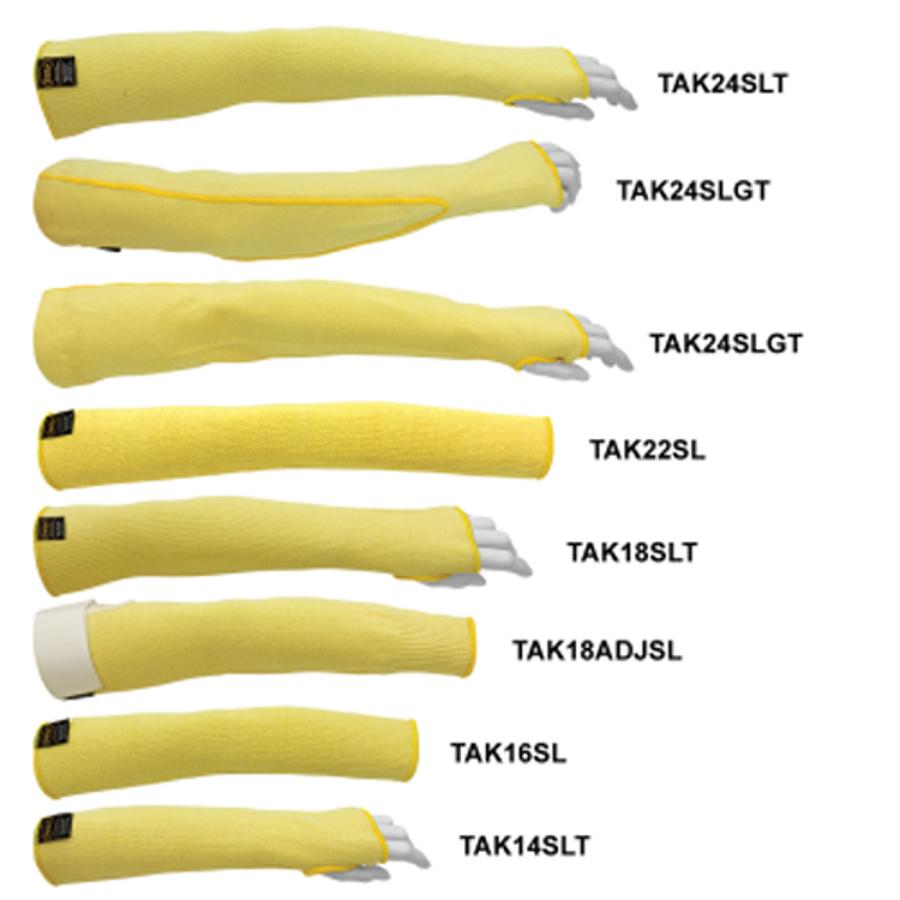 "14"" Tuffkut Heavyweight Cut Resistant Sleeve, Thumb Slot, TAK14SLT"