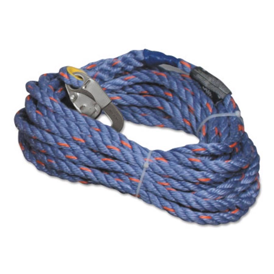 300L Series Verical Rope Lifeline, 300L-Z7/50FTBL, Blue, 50'