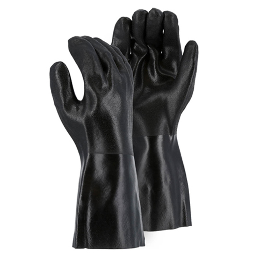 3364, PVC Double Dipped 14 Glove with Sand Finish