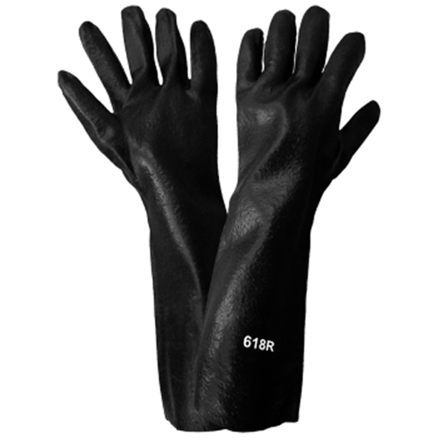 618R- Chemical Resistant Supported Neoprene, PVC and Nitrile Glove