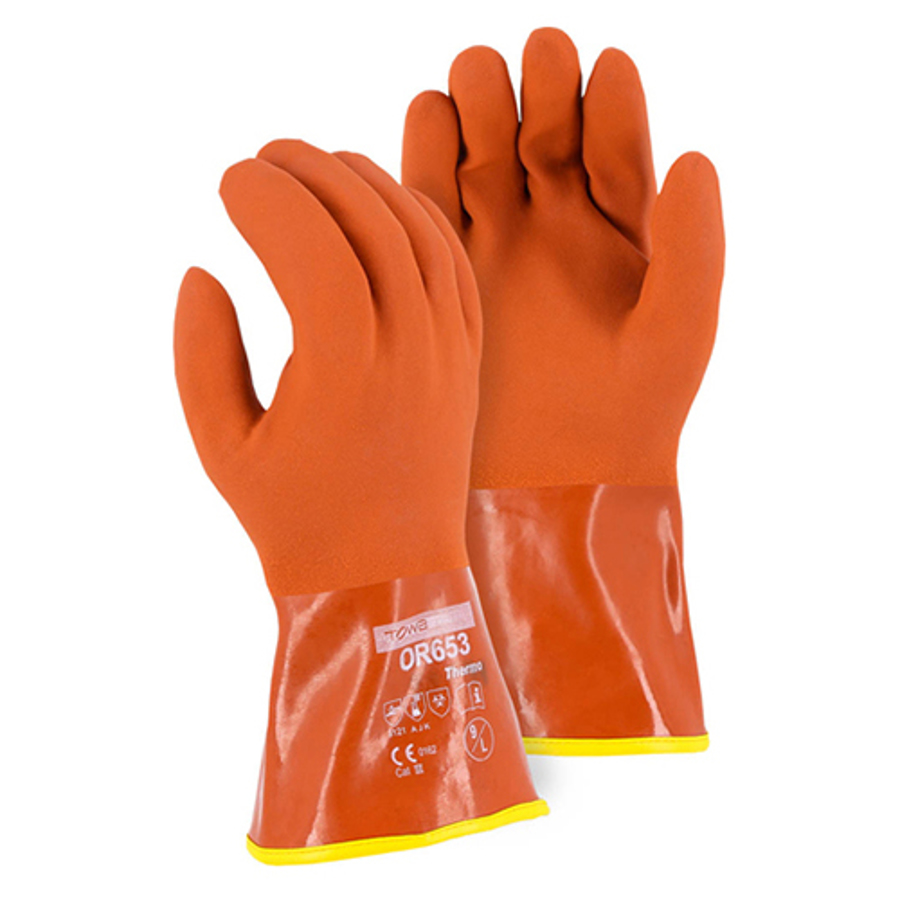 3703 Winter Lined PVC Double Dipped Glove