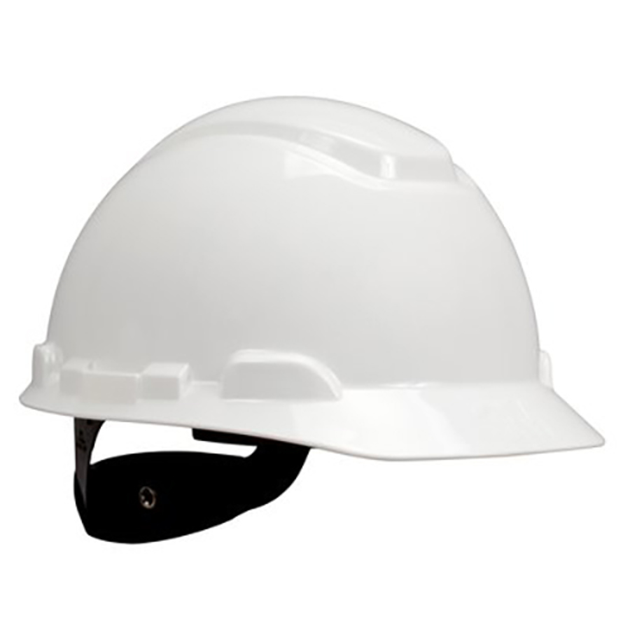 3M Hard Hat w/UVicator, Non-Vented, 4-Point Suspension