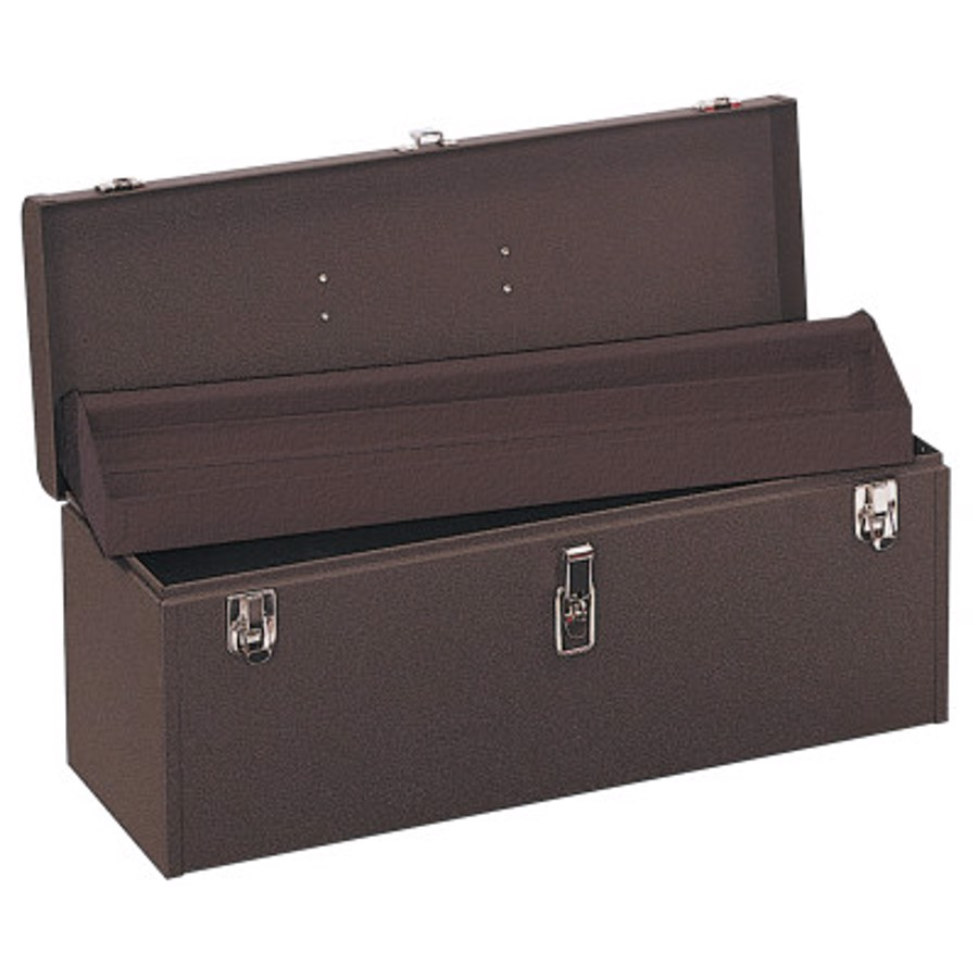 """24 """" Professional Tool Boxes, 24 1/8""""W x 8 5/8""""D x 9 3/4""""H, Steel, Brown Wrinkle"""