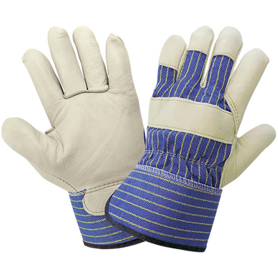 1900-9(L)- Leather Palm, Gunn Cut Glove
