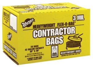"HB42-20 Flex-O-Bag Trash Can Liners, 3 Mil 33""X48"", Black, 42 Gal"