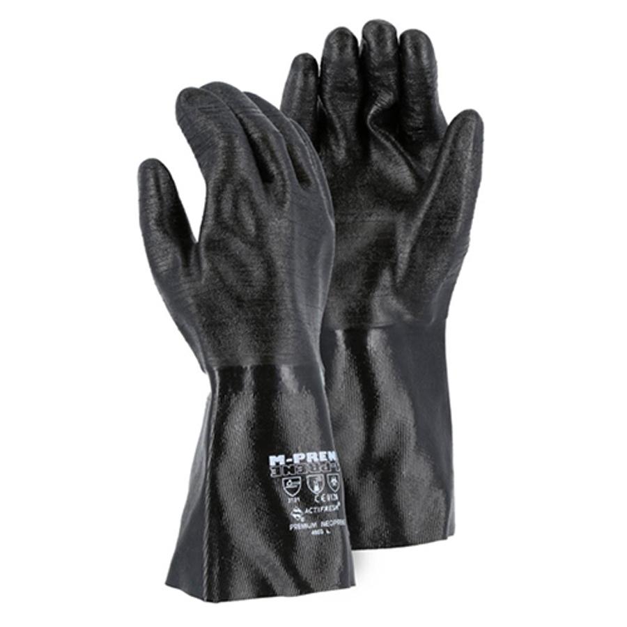 4003, Neoprene 14 Glove with Rib Finish & Interlock Liner