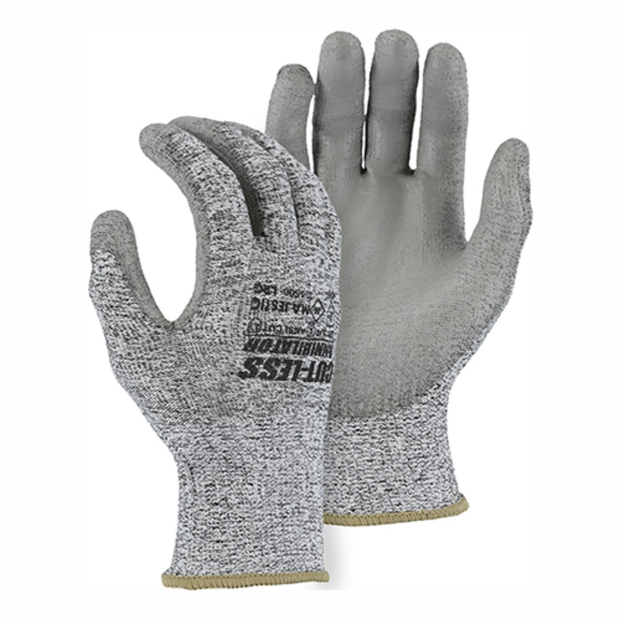 33-1500 Cut-Less Knit Glove with Polyurethane Palm Coating