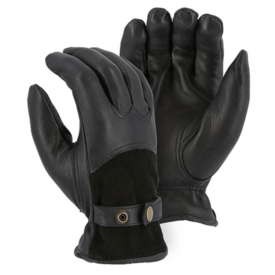 1546T Winter Lined Deerskin Drivers Glove w Reversed Back