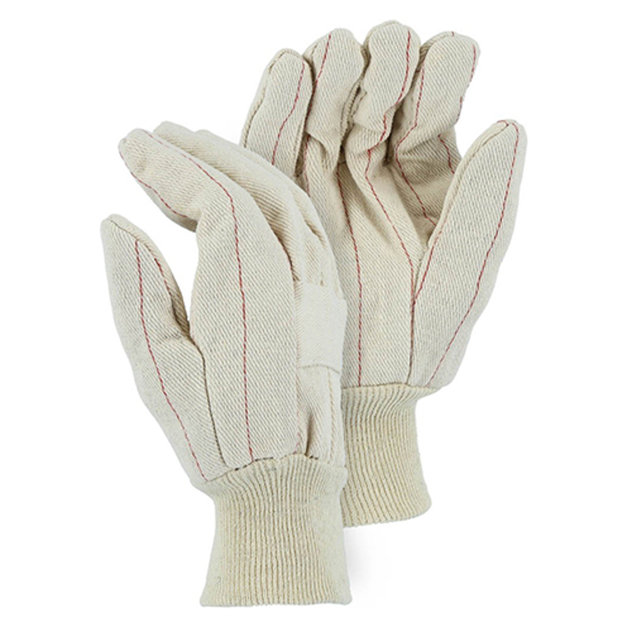 3406, 18-oz Quilted Cotton Palm Glove with Knuckle Strap