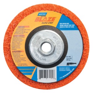 "Bear-Tex Blaze Rapid Non-Woven Depressed Center Discs, 4-1/2"" x 5/8"" - 11, 12000 RPM"
