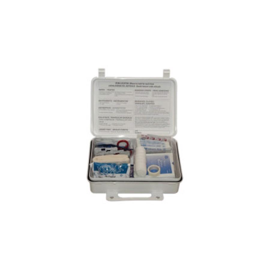 25-Person Weatherproof ANSI First Aid Kits, Weatherproof Plastic, Wall Mount
