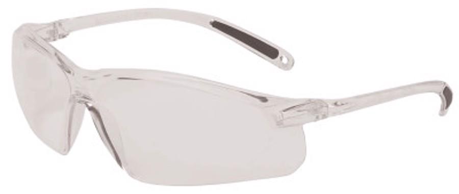 A700 Series Eyewear, Clear Lens, Polycarbonate, Hard Coat, Clear Frame