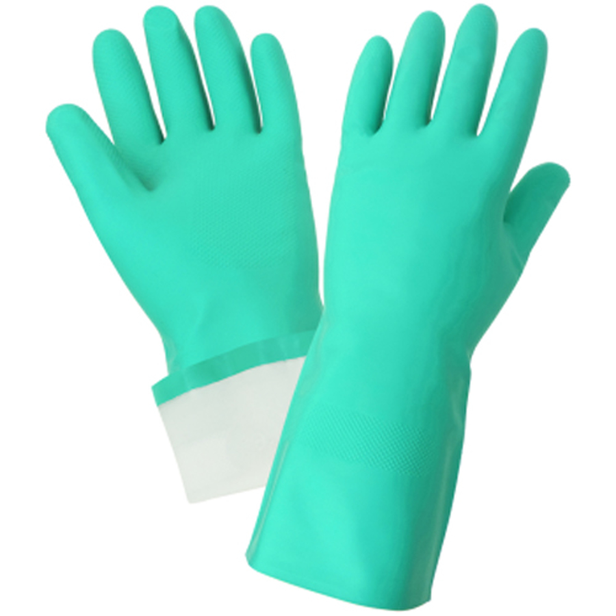515F Unsupported Flock-lined Nitrile Gloves