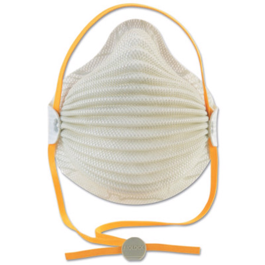 Airwave N95 Disposable Particulate Respirators, Oil-Free Filters, M/L